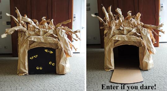 spooky tree entryway