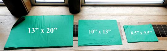 tissue paper sizes