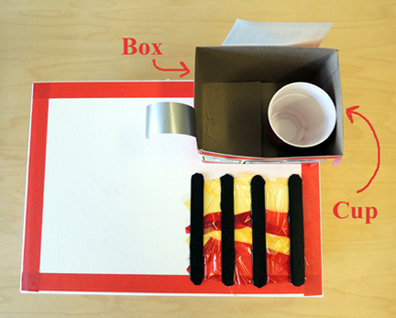 box and cup