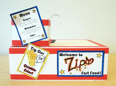 menu and signs