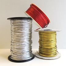 metallic tie cord