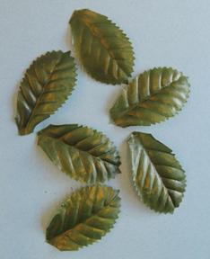 fabric leaves