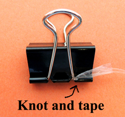 knot on clip