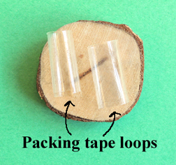 wood round tape loops