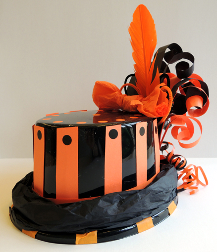 side of decorated top hat