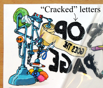 cracked letters