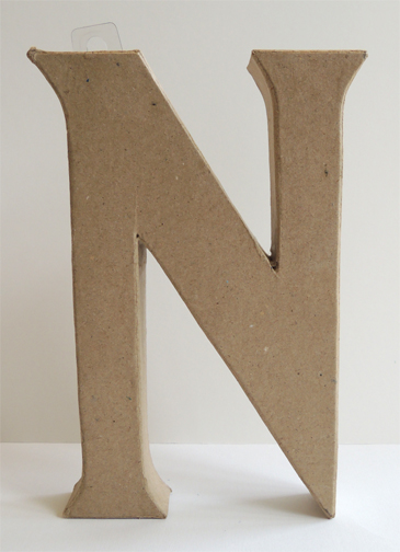 undecorated letter N