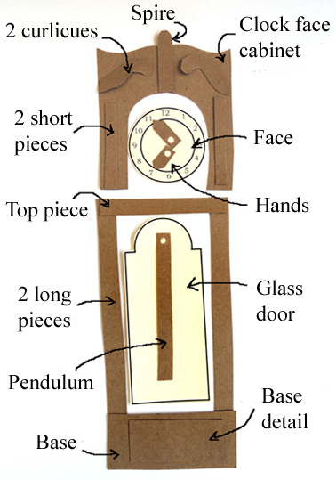 clock pieces