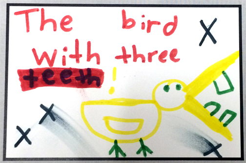 the bird with three teeth