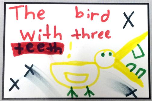 the bird with three teeth