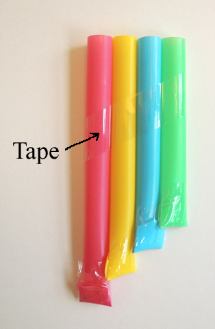taped pipes