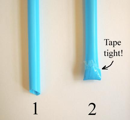 taped straw
