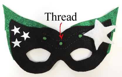 thread on mask