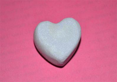 hair chalk heart