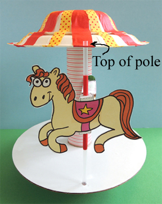 top of pole