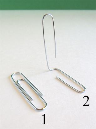 bent paper clip