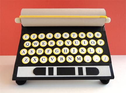 finished typewriter