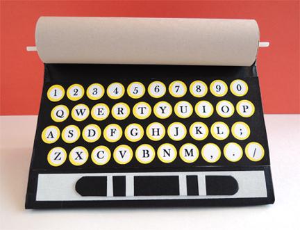 typewriter balloon stick