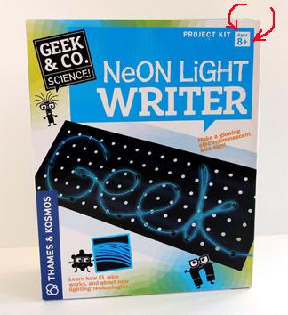 neon light writer age 8 plus
