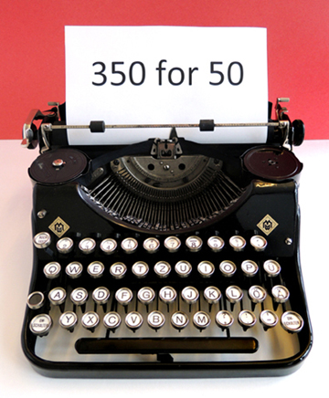 350 for 50 typewriter pop