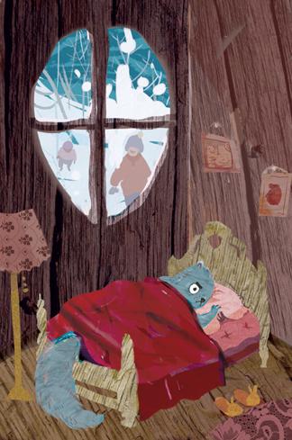 Sleepless the Squirrel_artwork by Aliisa Lee