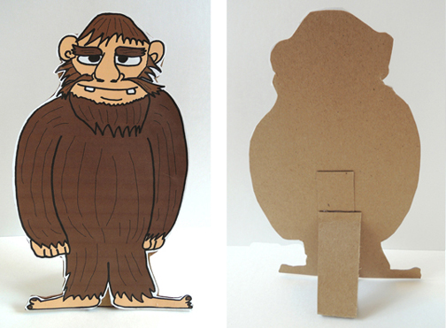 front and back of sasquatch