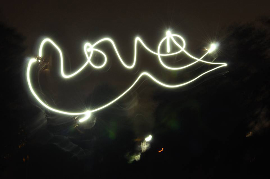 light calligraphy - love