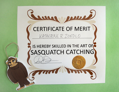 ornament and certificate