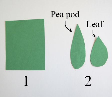 pea pod and leaf