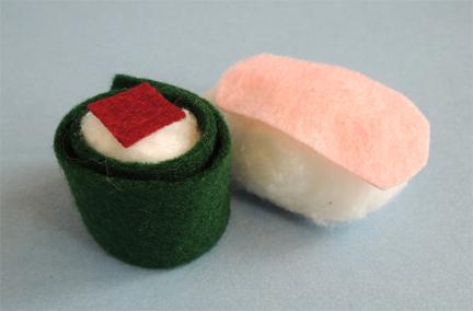 hosomaki and sushi