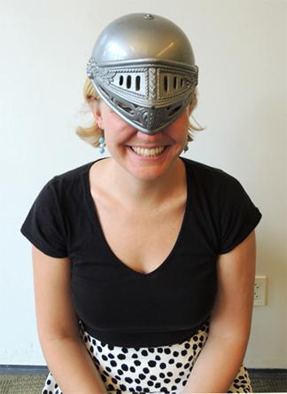 ellen's awsome headgear