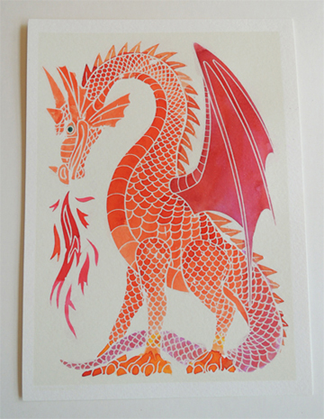 finished red dragon