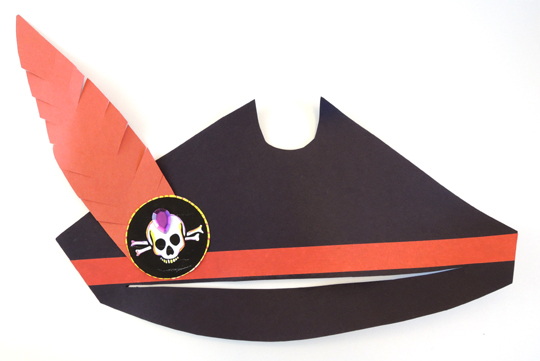 finished pirate hat