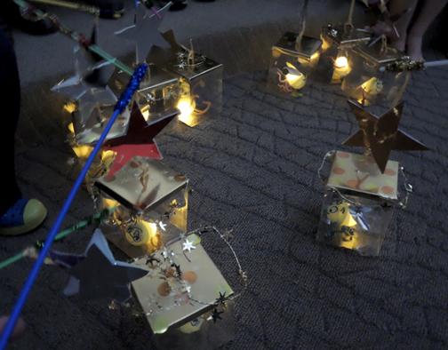 glowing lanterns