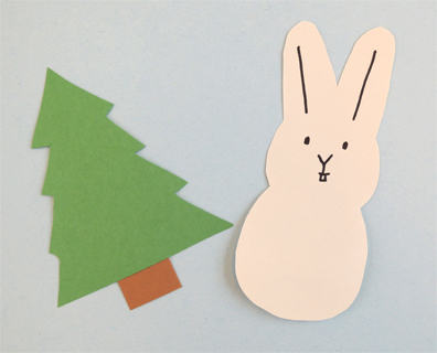 tree and bunny