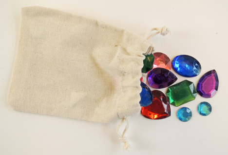 bag of gemstones