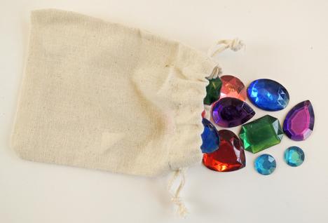 bag of gemstones