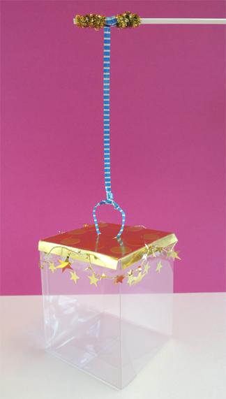 lantern attached to balloon stick