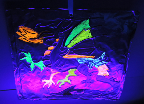 finished glowing dragon