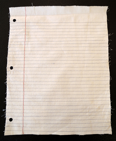 blank fabric page