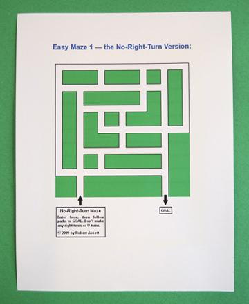 robot abott's maze