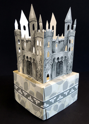 finished castle tissue box