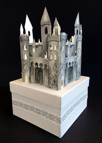 finished castle window box