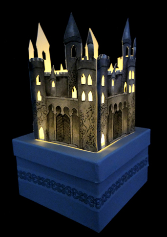 illuminated castle window box