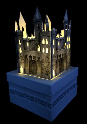 illuminated castle window box
