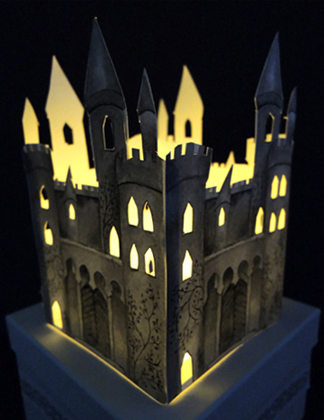 illuminated castle