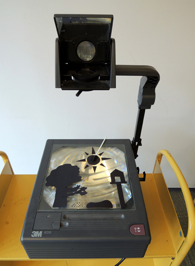 overhead projector set