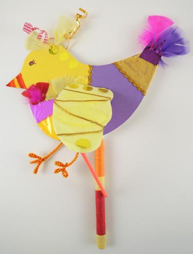 shadow puppet bird