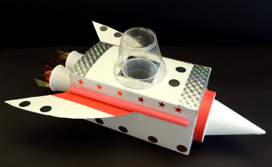finished mouse rocket