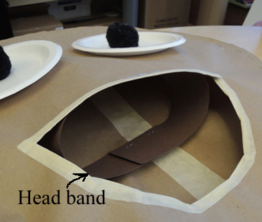 head band inside costume